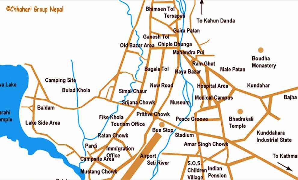 map of pokhara 5 Map Of Pokhara