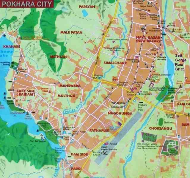 map of pokhara 144 Map Of Pokhara