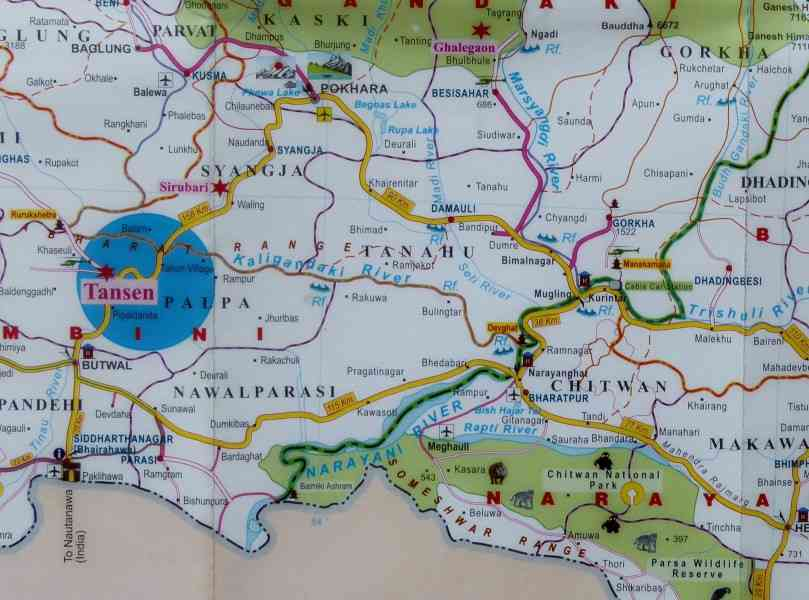 map of pokhara 270 Map Of Pokhara