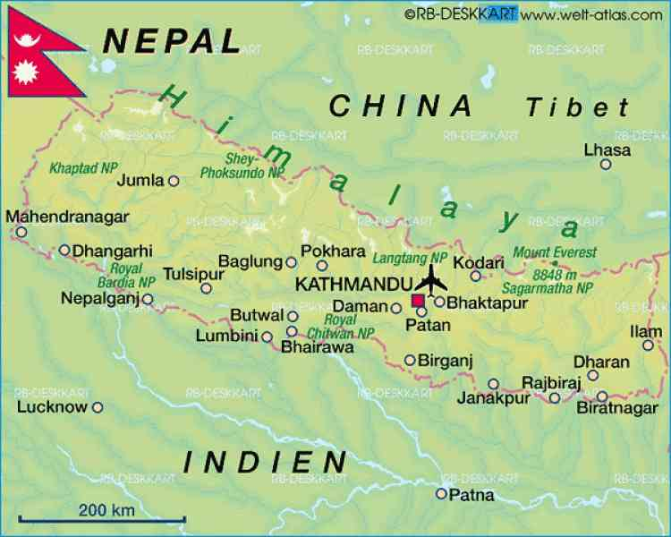 map of pokhara 511 Map Of Pokhara