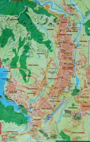 map of pokhara 731 Map Of Pokhara