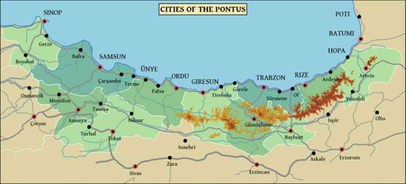 map of pontus 213 Map Of Pontus