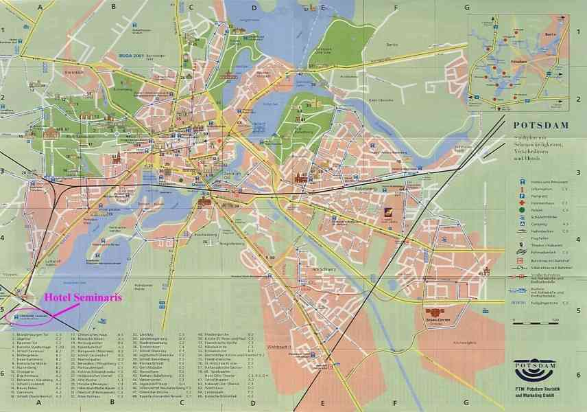 map of potsdam 358 Map Of Potsdam