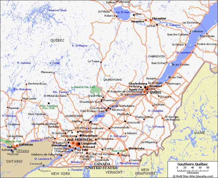 map of province of quebec 5 Map Of Province Of Quebec