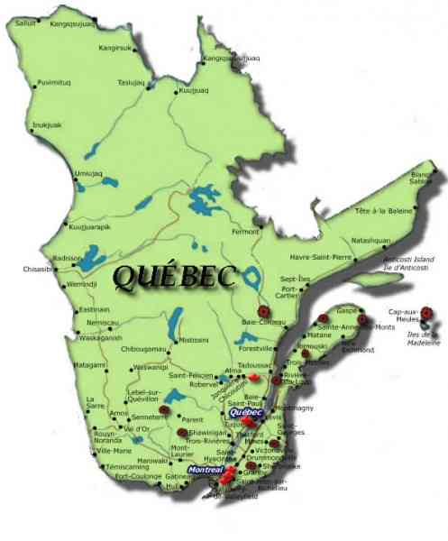 Map Of Province Of Quebec Map Holiday Travel HolidayMapQcom - Map of quebec