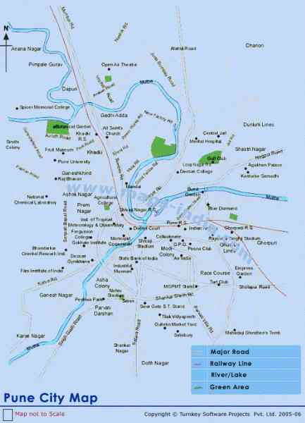 map of pune city 352 Map Of Pune City