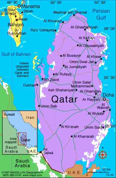 Map Of Qatar 5 Map Of Qatar