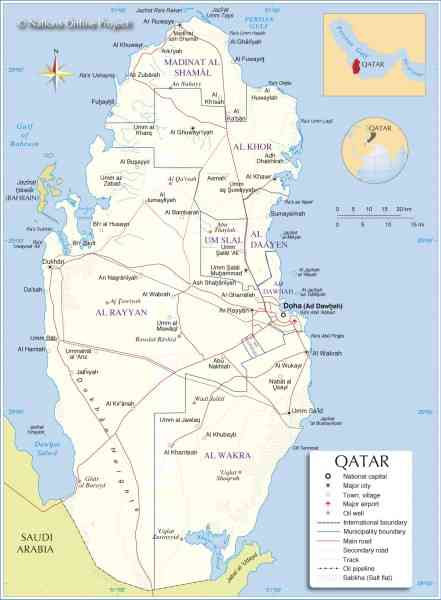 Map Of Qatar 707 Map Of Qatar