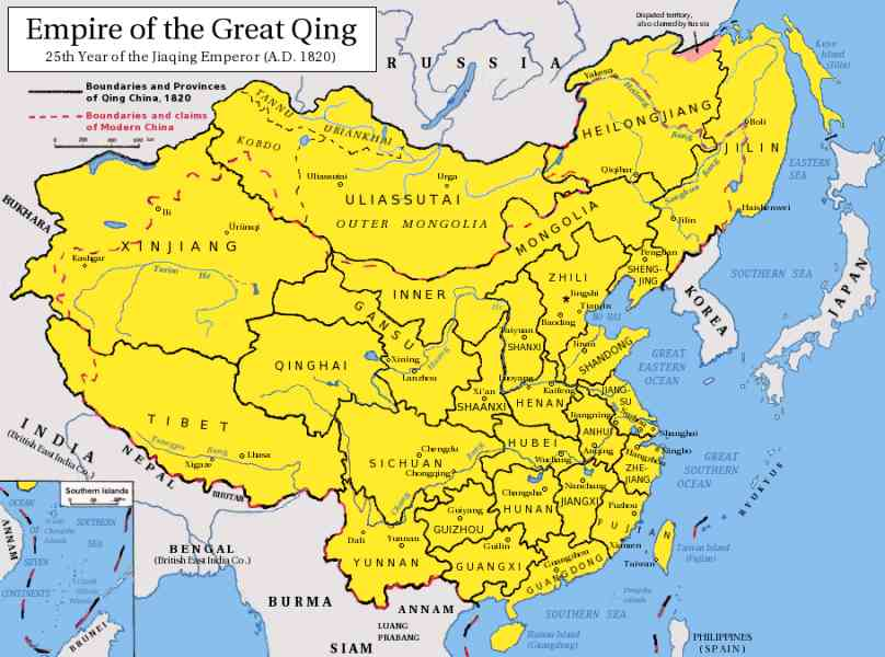 map of qing dynasty 2 Map Of Qing Dynasty