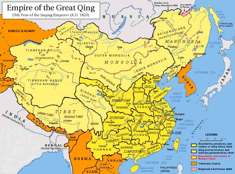 map of qing dynasty 153 Map Of Qing Dynasty