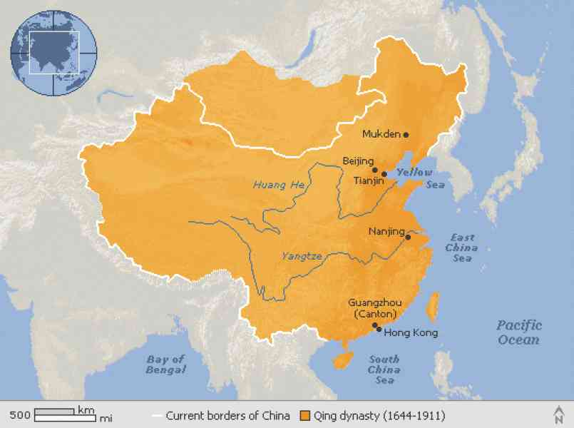 map of qing dynasty 527 Map Of Qing Dynasty