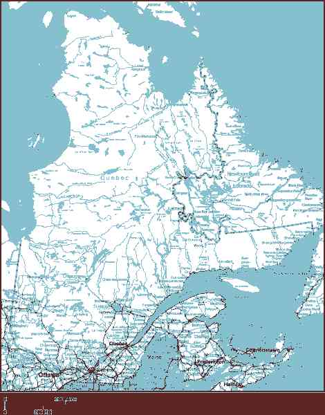 map of quebec 4 Map Of Quebec