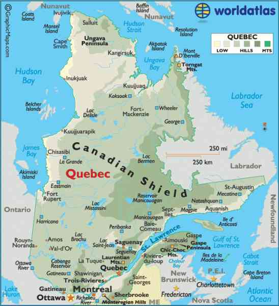 map of quebec 181 Map Of Quebec