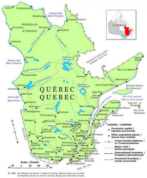 map of quebec 331 Map Of Quebec