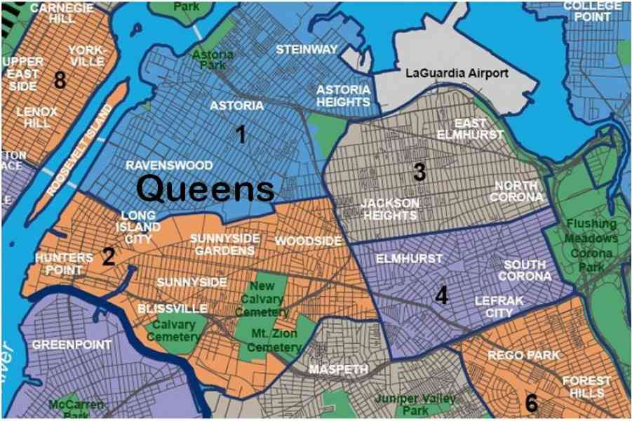 map of queens map holiday travel holidaymapq