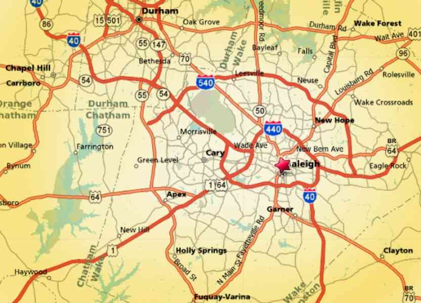 map of raleigh nc 260 Map Of Raleigh Nc