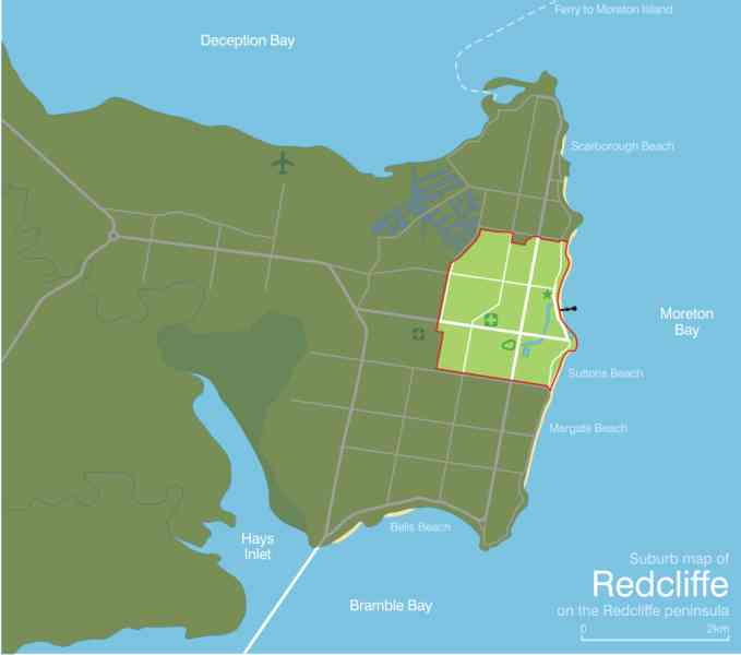 map of redcliffe 153 Map Of Redcliffe