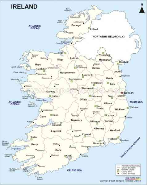map of republic ireland 4 Map Of Republic Ireland