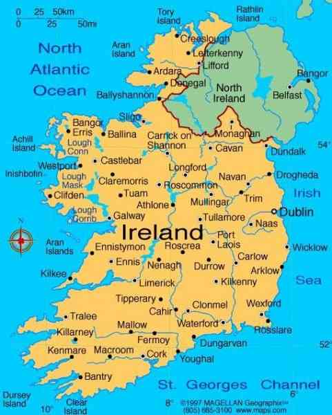 map of republic ireland 280 Map Of Republic Ireland