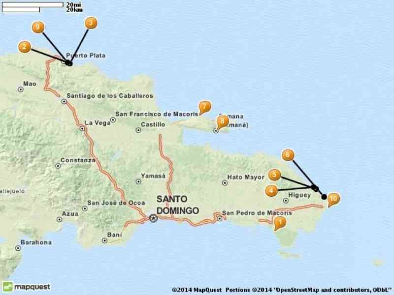 map of resorts in dominican republic 280 Map Of Resorts In Dominican Republic