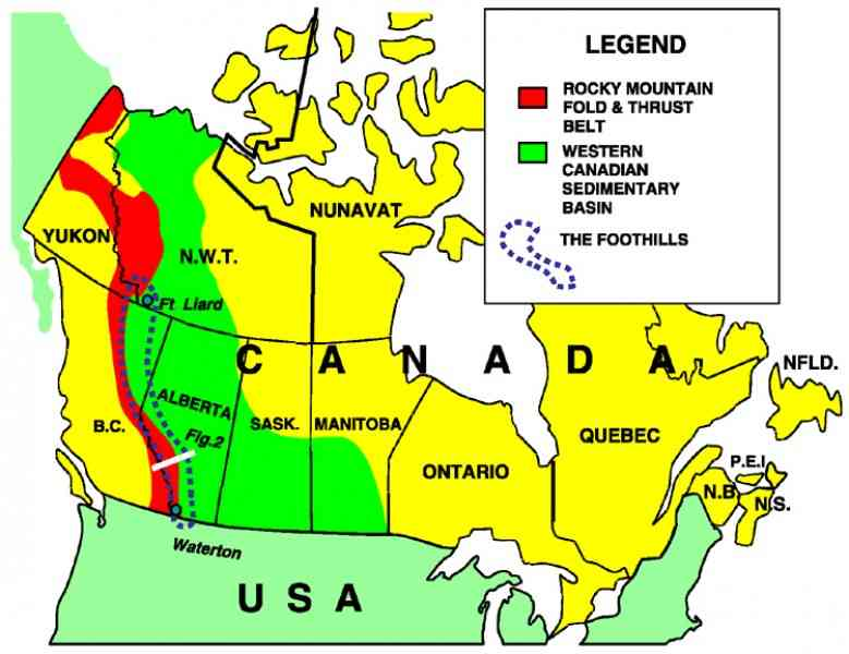 Map Of Rocky Mountains In Canada  Map  Holiday  Travel