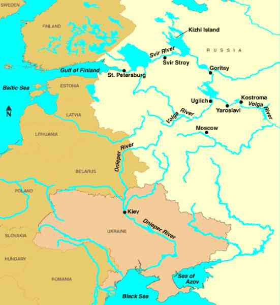 Map Of Russia With Rivers Map Holiday Travel HolidayMapQcom - Map of russian cities
