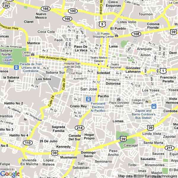 map of san jose costa rica 9 Map Of San Jose Costa Rica