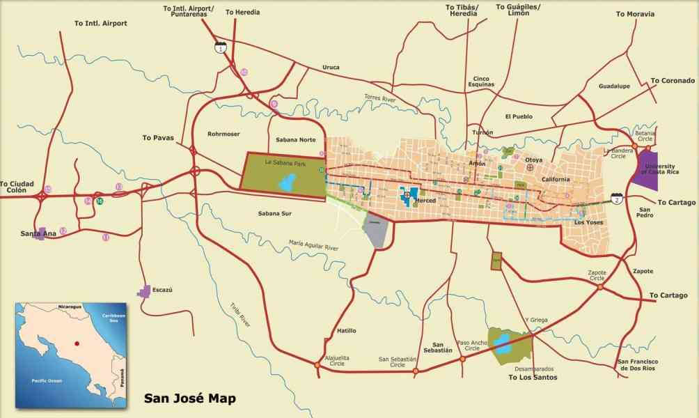 map of san jose costa rica 77 Map Of San Jose Costa Rica