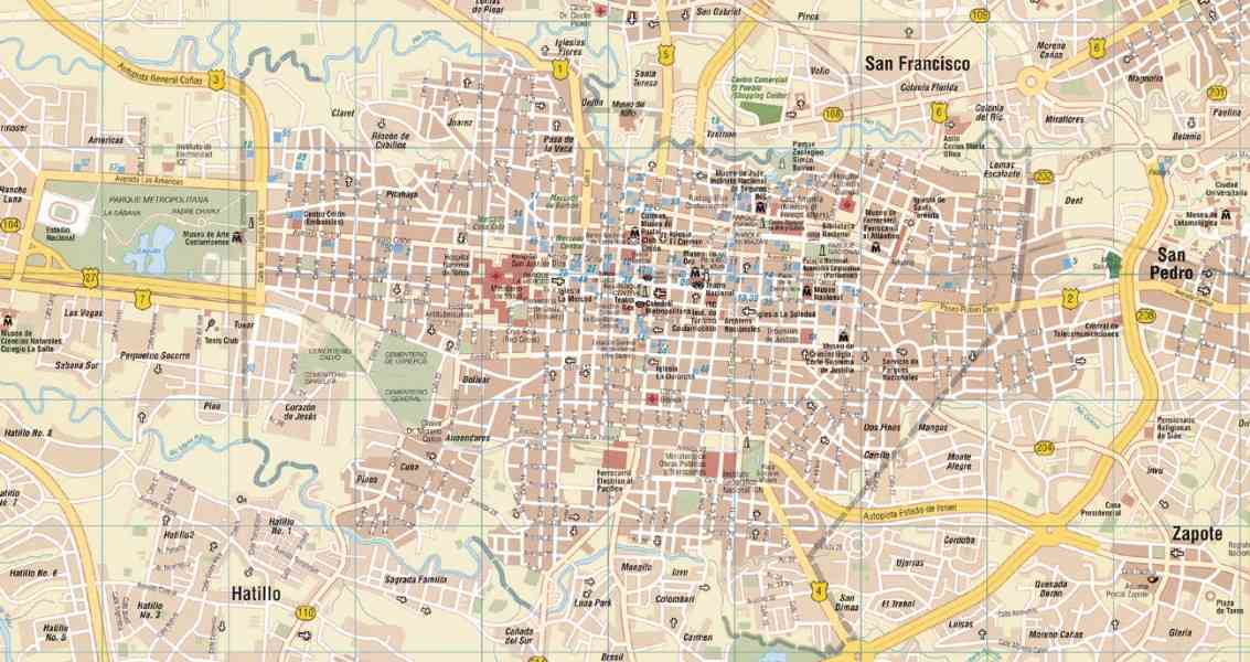 map of san jose costa rica 143 Map Of San Jose Costa Rica