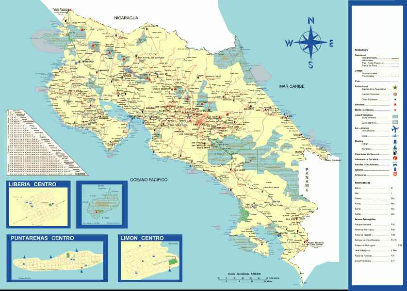 map of san jose costa rica 556 Map Of San Jose Costa Rica