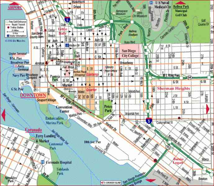 map of sandiego 10 Map Of Sandiego