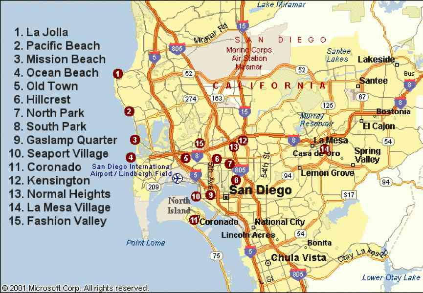 map of sandiego 34 Map Of Sandiego