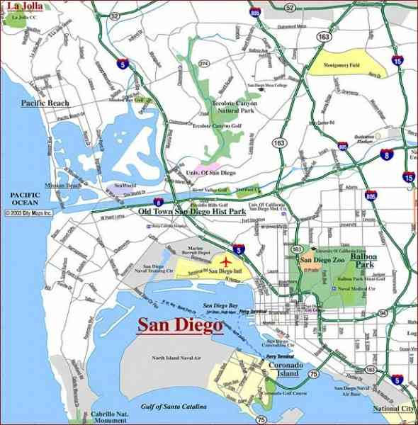 map of sandiego 360 Map Of Sandiego
