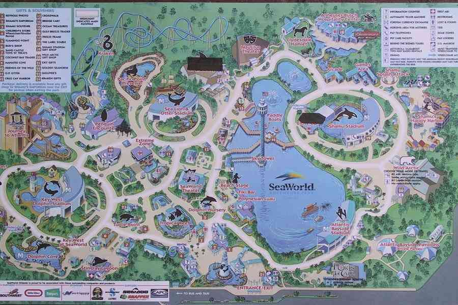 map of sea world san antonio 420 Map Of Sea World San Antonio