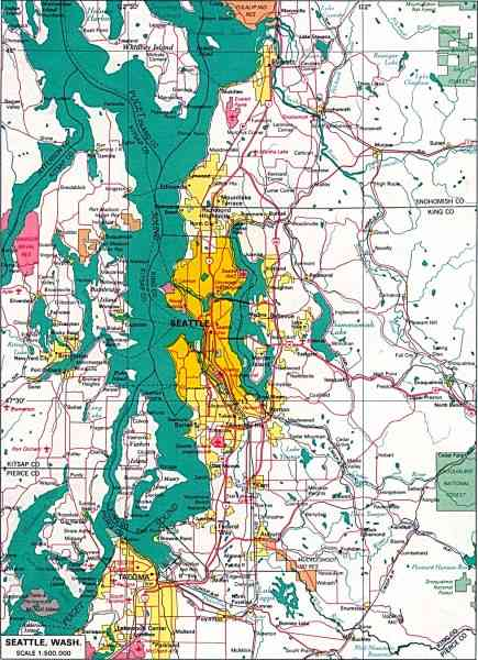 map of seattle.wa 29 Map Of Seattle.wa