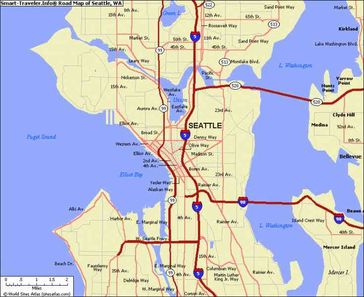 Map Of Seattle Wa  Map  Holiday  Travel HolidayMapQ