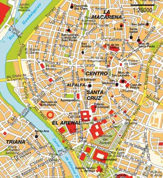 map of sevilla 9 Map Of Sevilla