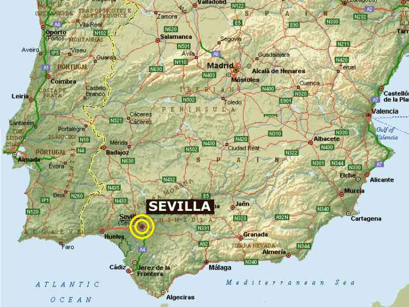 map of sevilla 50 Map Of Sevilla