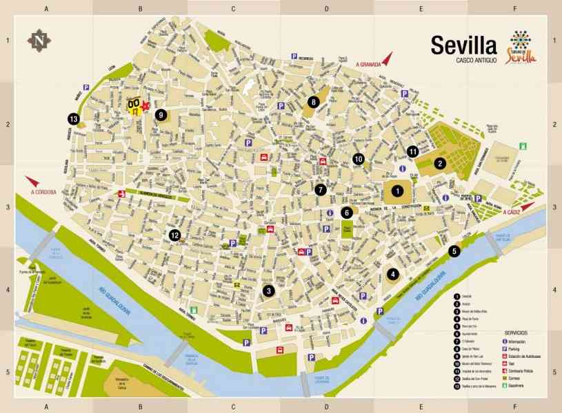 map of sevilla 379 Map Of Sevilla