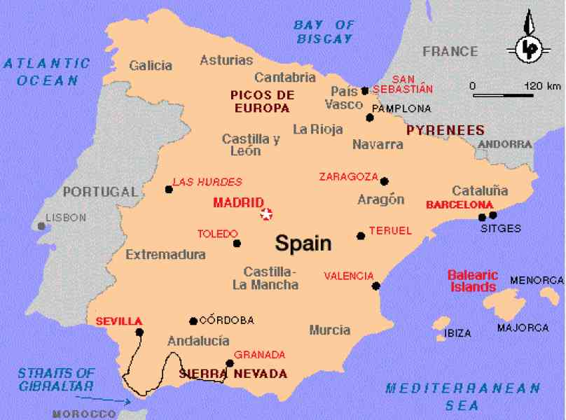 Seville tourist map - Seville sights map (Andalusia - Spain) |Seville Spain Map