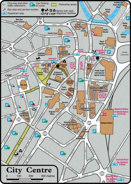 map of sheffield centre 635 Map Of Sheffield Centre