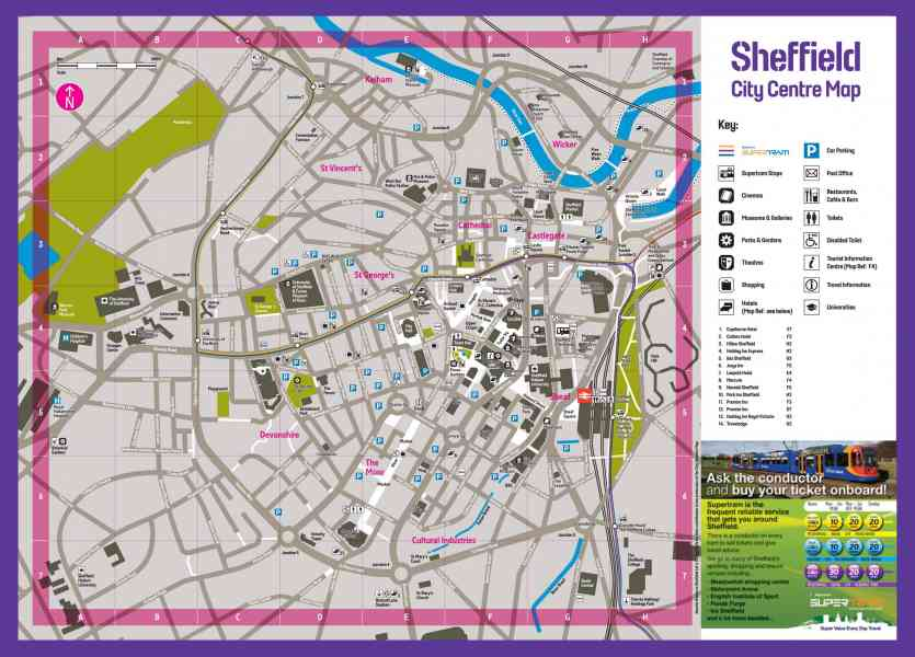 map of sheffield city centre 61 Map Of Sheffield City Centre