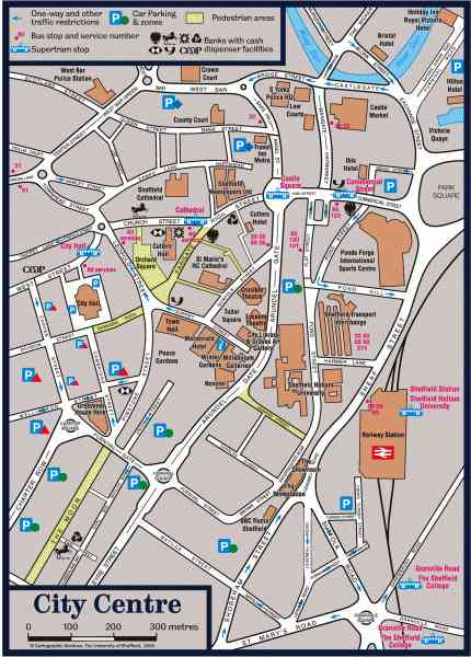 map of sheffield city centre 53 Map Of Sheffield City Centre