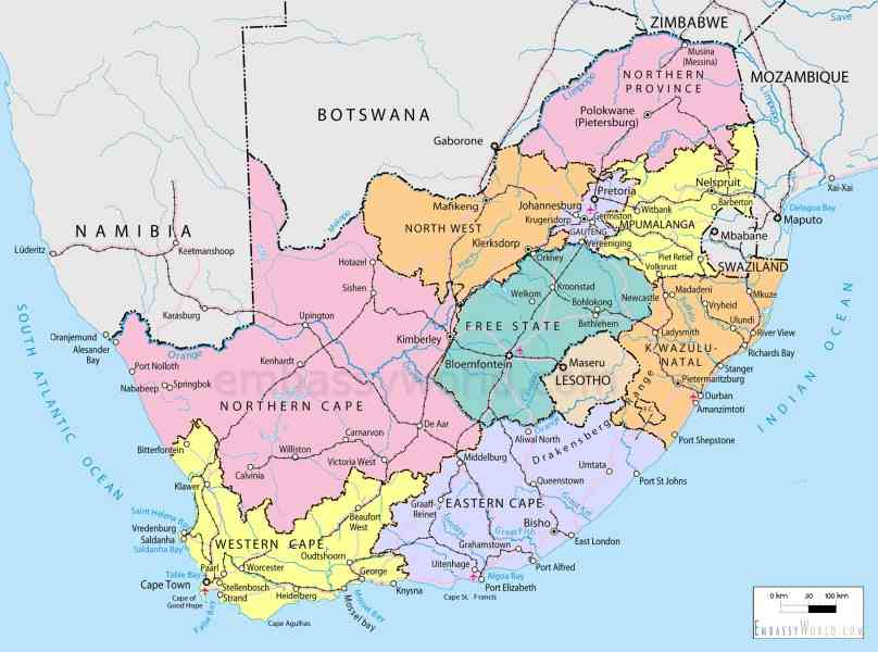 map of south africa 21 Map Of South Africa