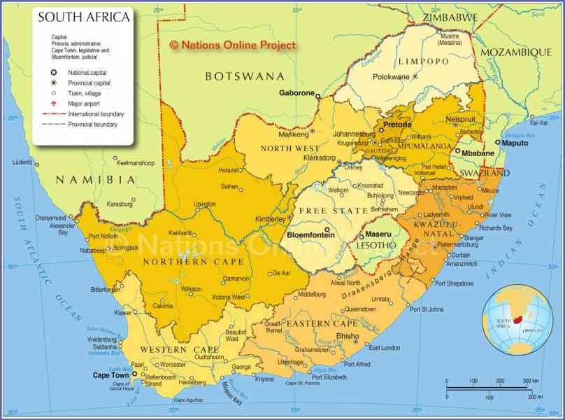 map of south africa 20 Map Of South Africa