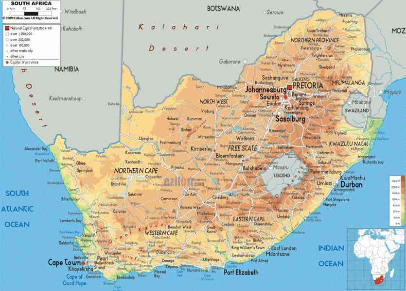map of south africa 135 Map Of South Africa