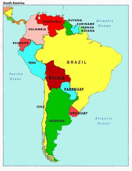 map of south america with capitals 117 Map Of South America With Capitals