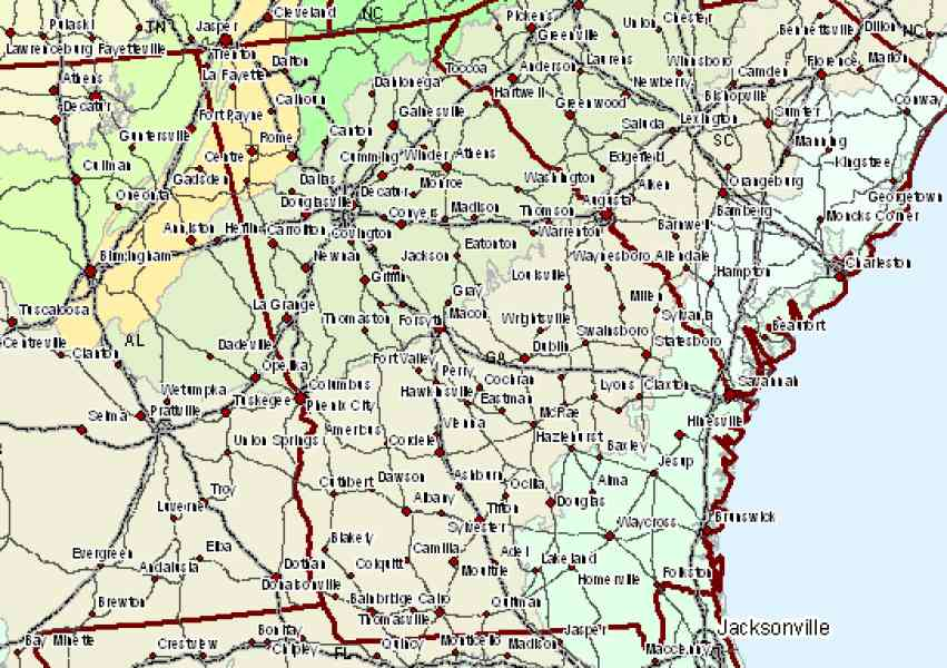 Map Of South Ga Map Holiday Travel HolidayMapQcom - South ga map