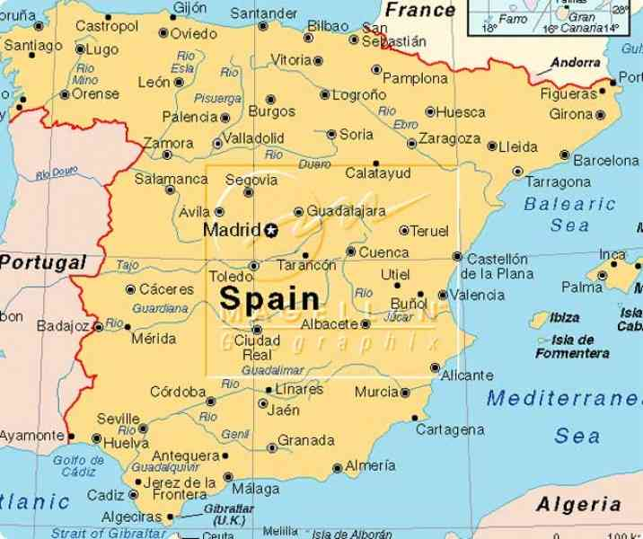 Map Of South West Spain.Map Of South West Coast Of Spain Twitterleesclub