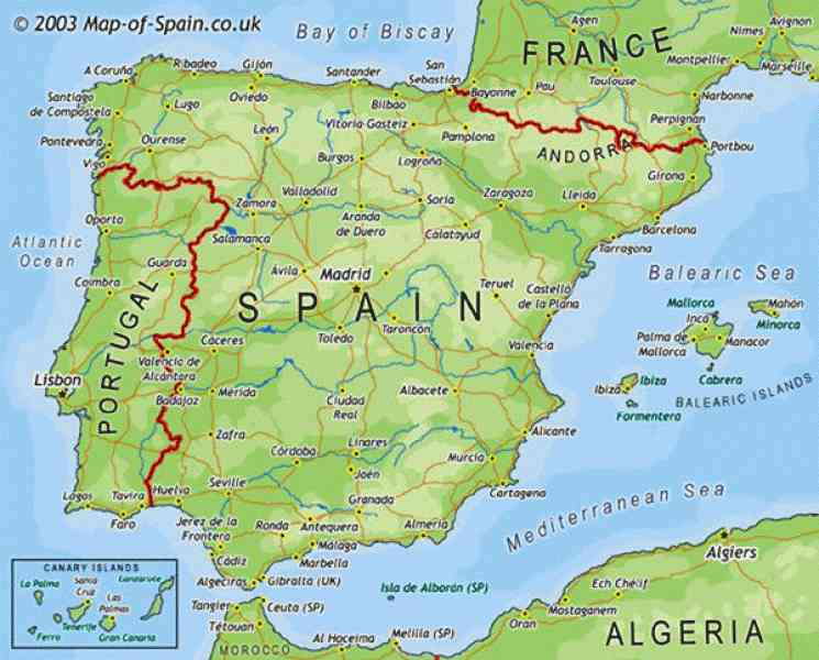 map of south spain 283 Map Of South Spain